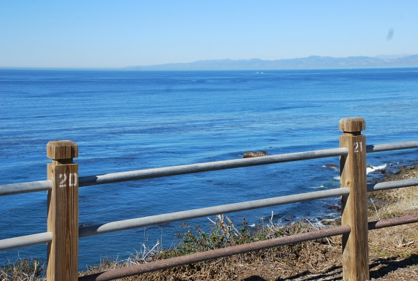 Fence numbers frame the Great Blue Pacific. Photo by Brenda Rees