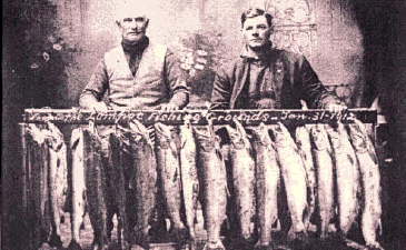 Steelhead trout fishing in Lompoc in 1912; PHOTO: UC Santa Barbara