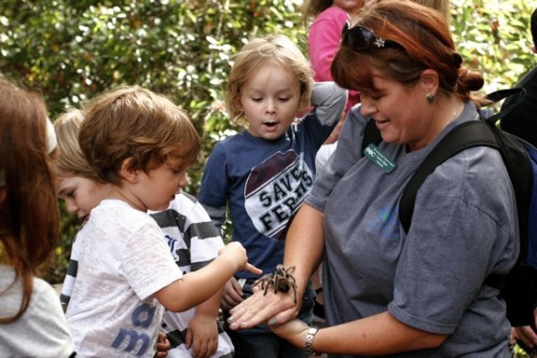 MAKING FRIENDS -- Current programs at the ENC have been the gateway to nature for many youngsters.