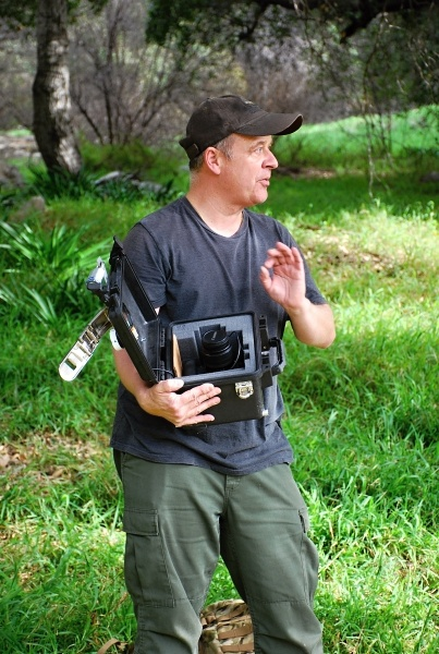 ART, SCIENCE AND ECOLOGY -- Callet explains how his cameras can catch wildlife being...wild.